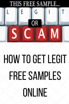 Are you wondering how to get free samples online? Check out our guide to finding legitimate free samples! Stuff For Free, Get Free Samples, Online Checks, How To Know