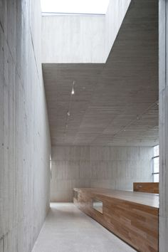 minimal concrete architecture combined with wood