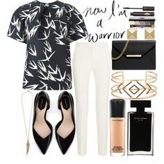 Black And White Office by anotherfashionfatale on Polyvore featuring Rochas, Roland Mouret, Zara, MICHAEL Michael Kors, Stella & Dot, Palm Beach Jewelry, Roberto Cavalli, MAC Cosmetics, Bobbi Brown Cosmetics and Charlotte Tilbury