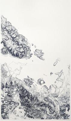 Armelle Caron   Paysages courbes (serigraphie 6ex)