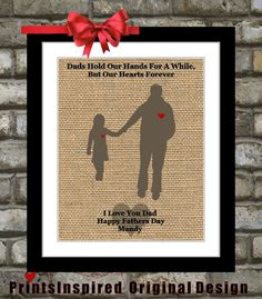 Gifts For Dad Birthday Custom Fathers Day Unique Christmas Present Gift From Daughter To Father Special Daddy Print
