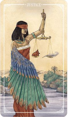 Justice - Eden Cooke from the Ostara Tarot