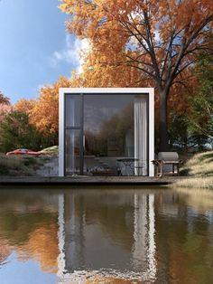 Container House - le minimalisme en architecture, une jolie maison avec murs en verre au bord du lac Who Else Wants Simple Step-By-Step Plans To Design And Build A Container Home From Scratch?