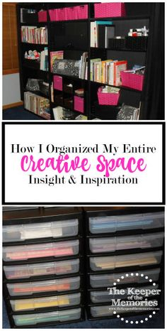 Looking for some inspiration? Check out how I organized my entire creative space. So many awesome ideas in one post.