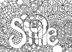 Digital Download Coloring Page Hand Drawn Zentangle Inspired Abstract Zendoodle Hippie. $2.20, via Etsy.