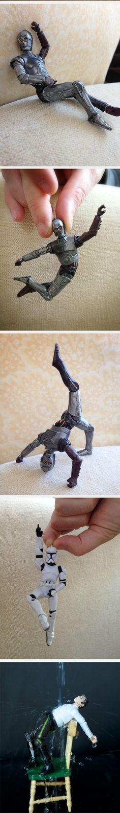 Star Wars Action Figures Dancing! - Last one is my fav!!