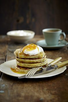 NOMU is an original South African food and lifestyle concept by Tracy Foulkes. Sugar Free Pancakes, Eat Me Drink Me, Orange Syrup, Gluten Free Banana, Tasty, Yummy Food, Breakfast Items, Brunch Recipes, Brunch Ideas