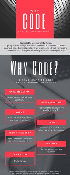 7 Ways Learning Code Helps Product Managers Infographic - http://elearninginfographics.com/7-ways-learning-code-helps-product-managers-infographic/