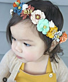 Fall Paper Flower Crown by LittleJuJuFashion on Etsy