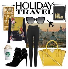 #travelinstyle - summerocha.Polyvore - items sourced at #Oasis, #Valentino, #MichaelKors, #costa