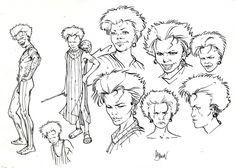 Planche originale de bande dessinée, galerie Napoléon  : DAYAK - Etude de personnages DAYAK par ADAMOV -