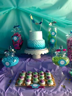 Mermaid Under the Sea Candy Buffet Open House Birthday Party Sweethearts  Co. Lapper Michigan
