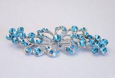 Vintage light blue rhinestone crystal by chicvintageboutique, $15.00