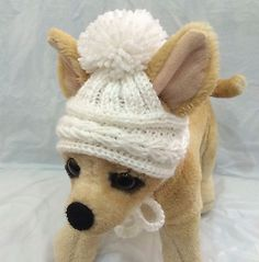 Pet Clothes Apparel Crochet  Hand-Knit Outfit Hat for Small Dog and Cat