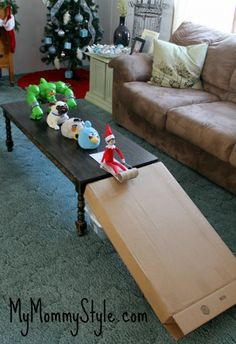 Sledding | 33 All-Time Great Elf On The Shelf Ideas