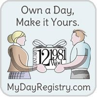 MyDayRegistry is an online registry where you can dedicate a special day to a loved one. A perfect first anniversary gift for your first anniversary.