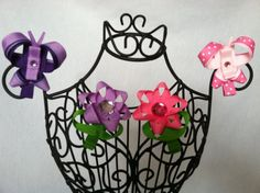 Butterfly or Flower Clip Ribbon Sculpture by KristinStephanie, $5.00