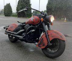 ABC KAWASAKI 'War Bike' (VN800 Drifter) One off Classic Custom Military Bike | eBay
