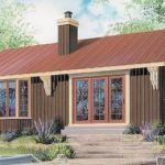 Plano de Casa de 86 metros cuadrados con hogar