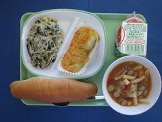 e20151028a Japanese School Lunch, Food Japan, Food Service, Food Presentation, Japanese Food, Schools, Plating, Healthy Eating, Yummy Food