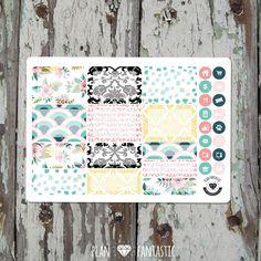 Half Box Planner Sticker - Vintage Floral Sticker Kit - Erin Condren - Filofax - Midori - Happy Planner - Travelers Notebook by planfantastic