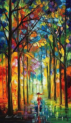 oil painting by Leonid Afremov. This is an original oil on canvas. I use only a palette-knife for painting. I have not used a brush in this painting. I use only natural oil paint and pure cotton canvas. I love his work! Wow Art, Oil Painting On Canvas, Knife Painting, Painting Art, Oil Painting Gallery, Canvas Art, Oeuvre D'art, Painting Inspiration, Amazing Art