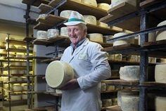 Philip Stansfield, the dairy farmer turned cheesemaker whose Cornish Blue was judged best cheese in the world. Cornish Cheese Company. Picture by @Emily Schoenfeld Whitfield-Wicks