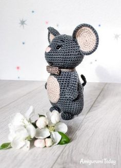 Free amigurumi mouse pattern by Amigurumi Today