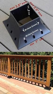 <p>Quick-Mount 4 X 4 post support flange for permanent or temporary hand, fence, deck, porch railing or post mounting. Heavy Duty High Impac Price: $9.95.