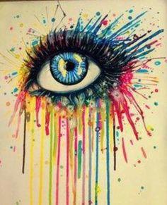 Melted crayon eye Cool :)
