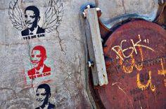 Obama graffiti on Miss Fruitfly.