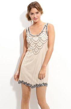 Angie Bead & Sequin Embellished Sleeveless Dress (Juniors)