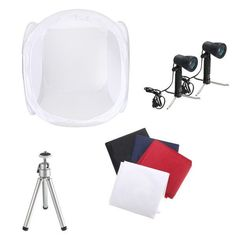 30 Inch Photo Photography Tent Shooting Box Softbox Studio Kit Set With Light And Tripod. 30 Inch Photo Photography Tent Shooting Box Softbox Studio Kit Set With Light And Tripod  Features:  Widely used in produce e-commerce website images, professional catalog images etc. COMPLETE SET for a perfect shot. Light weight and foldable, convenient and portable to use. Ideal for eBay seller, home or office, set up easily. Material: Translucent white flocking cloth. Dimension: 76 X 76 X 76 cm / 30…