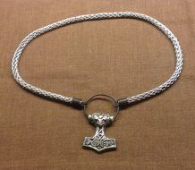 Viking Knit link. Materials , silver or pewter. Pendant Thor's Hammer ( Copy from discovery Ödeshög )