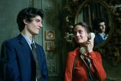 more of that red collar silk blouse :: eva green, the dreamers (& the gorgeous louis garrel...)