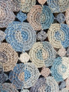"""Half"" large linen scarf - Sophie Digard crochet"