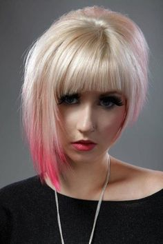 short asymmetrical bob haircut - Zesty Fashion