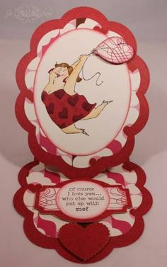 "Easel card made with Spellbinders dies and rubber stamps from Art Impressions. The ""Tina Set"" includes the sentiment."