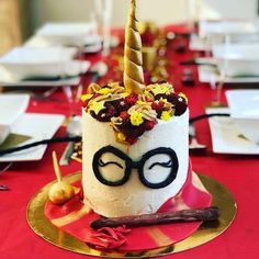 A Gryffin-fabulous white chocolate unicorn cake with vanilla and chocolate meringue buttercream Chocolate Meringue, White Chocolate, Chocolate Cake, Unicorn Foods, Banana Chocolate Chip Muffins, Bakeries, Vanilla, Chips, Birthday Cake