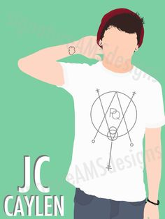 Minimalist Digital Artwork of YOUTUBER and O2L MEMBER - JC Caylen. (11.7x16.5 inches/A3) by signatureAMSdesigns on Etsy