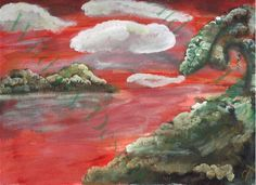"""Fantasy Isle"" Original Painting"