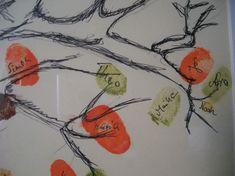 Einen DIY Fingerprint Tree selbermachen! Mit etwas Geschick eine prima Gästebuch Alternative und schöne Erinnerung an die Hochzeit zaubern!