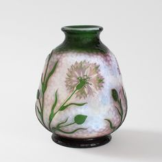 Daum ~ French Art Nouveau Cameo Glass Vase