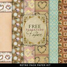 Freebies Retro Pack-Paper