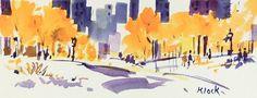 """Purple and Yellow"" - Original Fine Art for Sale - © Diane Klock"