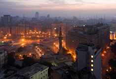 Tahrir Square in the early hours of the morning - Cairo, Egypt Seattle Skyline, Paris Skyline, Tahrir Square, Kairo, Something In The Way, 2nd City, Egypt Travel, Egypt Today, Cairo Egypt