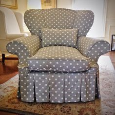 Slipcover furniture makeovers to inspire you - bring your ideas into Mac Fabrics!