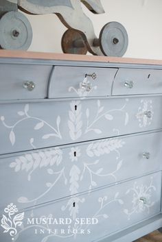 hand painted buffet makeover - Miss Mustard Seed