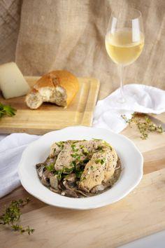 Chicken in Creamy Mushroom Sauce (gluten free, dairy free, refined sugar free)   Cooked Well