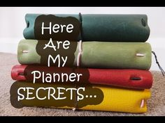 Here are my planner SECRETS...